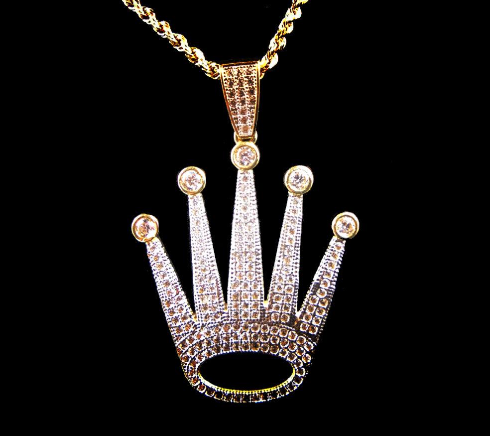 Pave Rolex Crown Pendant